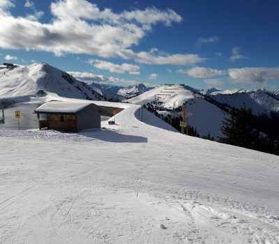Skiabfahrt nach Elmau