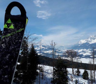 Stimmungsbild mit Ski