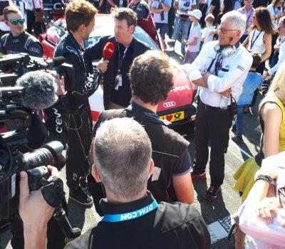 DTM Teamchef Arno Zensen in der Startaufstellung