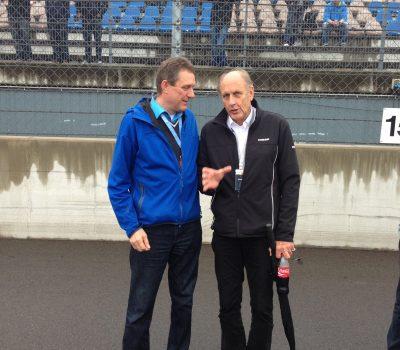Rennfahrer Legende Joachim Struck mit dem Rednermacher