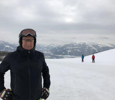 Heinrich Kürzeder beim Skifahren