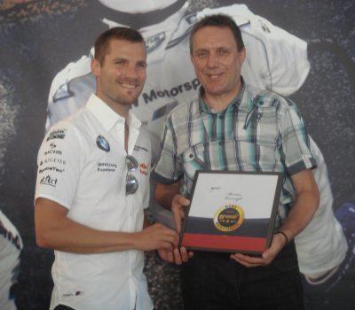 Heinrich Kürzeder mit dem DTM Gewinner Martin Tomczyk