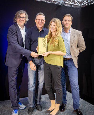 Hermann Scherer, Heinrich Kürzeder, Lisa Reinheimer und Sven Gabor Janszky beim Speaker Slam 2019.