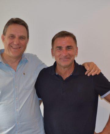 Rednermacher Kürzeder mit U-21 Nationaltrainer Stefan Kuntz